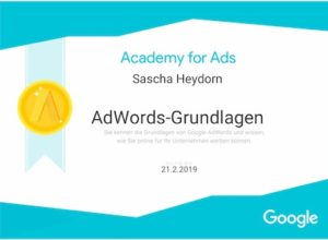 Google Zertifikat Google Ads_Adwords