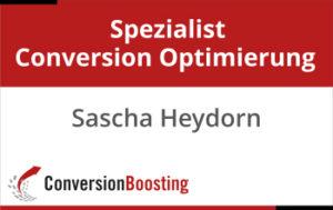 Zertifikat Spezialis Conversion Optimierung